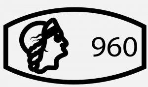 Клеймо 960 пробы серебра
