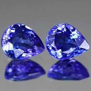 Синий танзанит - полудрагоценный камень