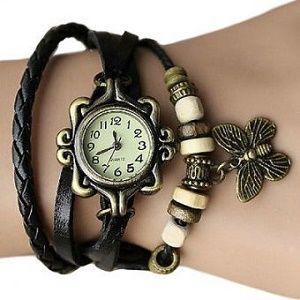 Часы с кожаным браслетом