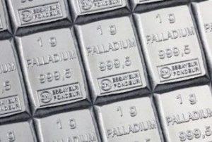 Палладий - слитки в виде плитки шоколада