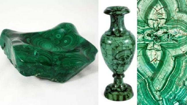 Малахит - минерал зеленого цвета, фото