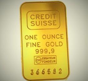 Слиток золота весом унция