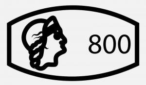 Клеймо 800 пробы серебра