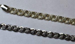 Покрытое родием серебро