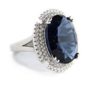 Синий фианит - имитация сапфира