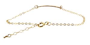 Застежка золотого браслета, регулируемая длина