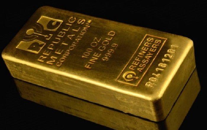 Слиток золота 999,9 пробы