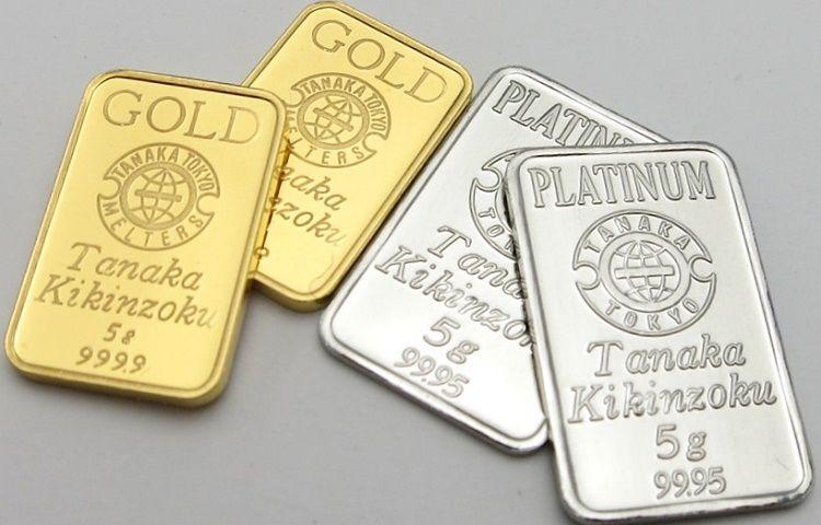 Слитки золота и платины