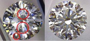 Облагороженные бриллианты-удаление дефектов, фото