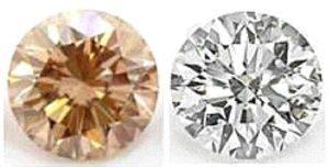 Облагороженные бриллианты - улучшен цвет, фото