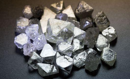 Природные алмазы, огранка, фото