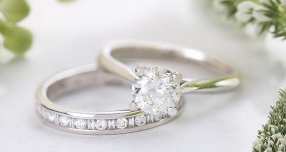 Свадебные украшения - кольца из платины