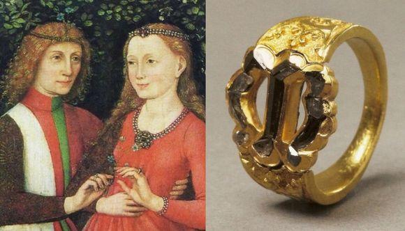 Кольцо для помолвки из Средневековья